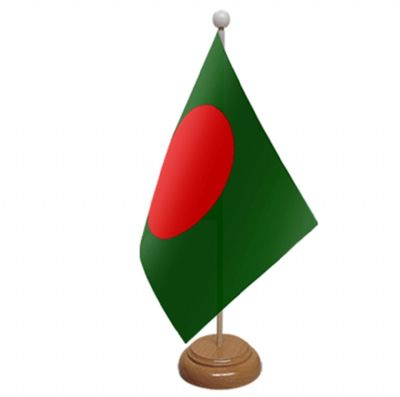 BANGLADESH - TABLE FLAG WITH WOODEN BASE